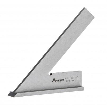 Kątownik ze stopką 45° MAGNUM 150x100 mm DIN 875/II
